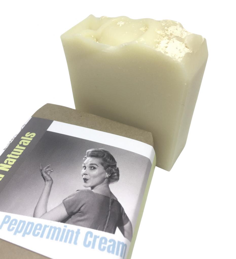 peppermint cream soap